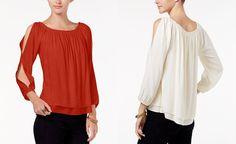 Sanctuary Chantel Split-Sleeve Top - Tops - Women - Macy's