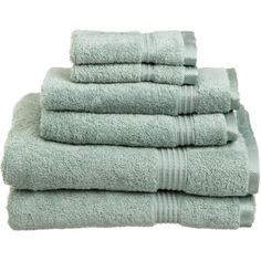 I pinned this 6 Piece Egyptian Cotton Spa Towel Set in Sage from the Parisian Powder Room event at Joss and Main!