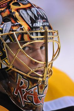 Tuukka Rask. Love the look of determination on his face.