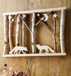 Winter scenes in the frame (kreativ.) Winter scenes in the frame Winter scenes in the frame Book Crafts, Diy And Crafts, Paper Crafts, Craft Books, Wood Projects, Woodworking Projects, Craft Projects, Unique Woodworking, Router Woodworking