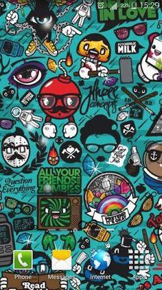 Art Work Pattern Illustration Graffiti Green Iphone 8 Wallpaper