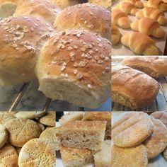 Litt av hvert i brød bakst, et utvalg brød bakst, – Fru Haaland