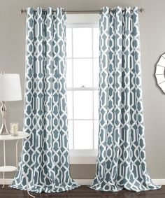 Look at this Blue Bret Curtain Panel - Set of Two on #zulily today!