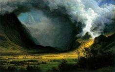 Storm in the Mountains  Albert Bierstadt