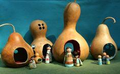 DIY gourd dollhouse tutorial