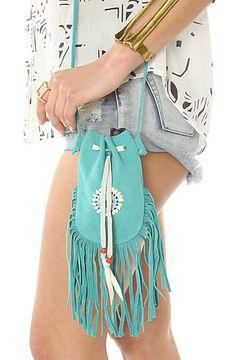 The Eva Leather Festival Fringe Bag by Nila Anthony