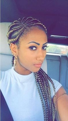 Blonde Ghana Braids My migraines would be *intolerable* if I tried to braid my hair, which is undoubtedly why I admire cornrows so much. Box Braids Hairstyles, African Hairstyles, Hairstyle Braid, Hairstyles 2018, 5 Braid, Hairstyles Pictures, Winter Hairstyles, Celebrity Hairstyles, Hair Beauty