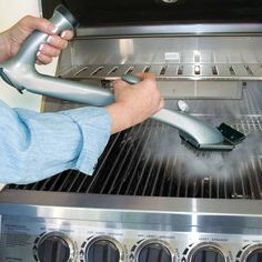A grill brush ($25) that releases water to help you steam your grill clean.
