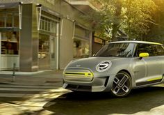 This is BMW's all-electric Mini Cooper production model due in 2019