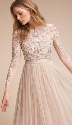 Needle + Thread Rose Beige Rhapsody Dress #sponsored