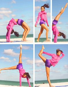 Nina Dobrev doing yoga on the beach! | The Vampire Diaries
