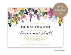 Bridal Shower Invitation |  Printable Bridal Shower Invite - v2 | Digital File