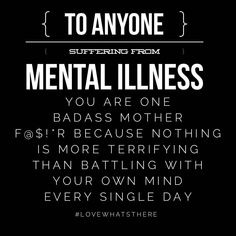 PSA to all the #mentalhealthwarriors out there!! ✊✊✊✊✊✊ | Mental Health | Mental Health Awareness | Mental Illness | Mental Illness Feels Like | Invisible Illness | Illness Not Weakness | Break the Stigma | Depression | Anxiety | PTSD | BPD | ADHD | OCD | MDD | Panic Attack | BP | ED | Manic Depressive Disorder | MBD | PNES | Schizophrenia | Adulting | Black and White |