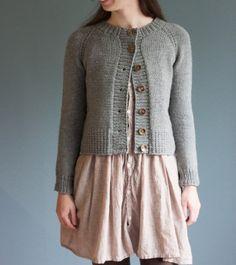 Ramona cardigan using Quince & Co. yarn (pattern by Elizabeth Smith; the brownstitch)