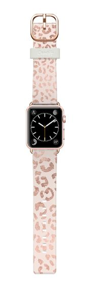 Casetify Apple Watch Band (38mm) Casetify Band - Modern hand drawn rose gold leopard print pattern blush pink by Girly Trend by Girly Trend #Casetify