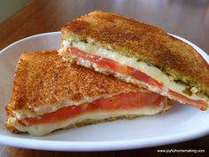 grilled cheese minus the pesto and we would love this sandwhich