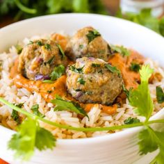 Enjoy the fusion of Indian and Italian in this Chicken Tikka Masala Meatball dish.