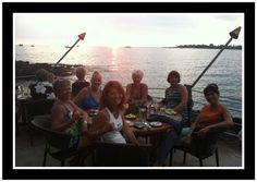 Nice dinner with a wonderful sunset
