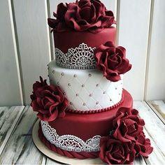 Lovely Colors!! BEAUTIFUL Cake Design ... Pic Crdt via @russiancakes #Cakebakeoffng #CboCakes #InstaLove #LikeforLike #AmazingCake #CakeInspiration