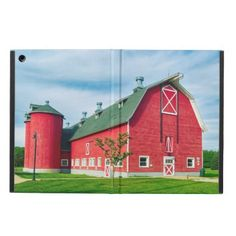 Big Red Indiana Barn Case For iPad Air - red gifts color style cyo diy personalize unique