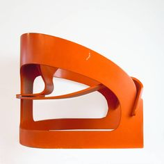 Joe Colombo plywood chair '4801', Kartell, orange