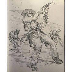 Art of Karl Kopinski - Morning western sketch — with Ahmet Önder.