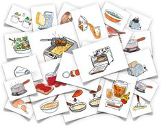 Cooking Verbs flash cards