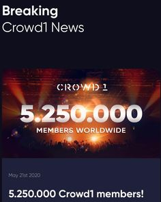 """Crowd1 Earner on Instagram: """"Simply amazing to see how fast we are growing every day! Go Crowd1!🎉 #5millionstrong #5millionmembers #crowd1 #crowd1marketing…"""" Day, Amazing, Instagram"""