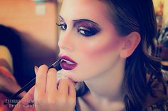Lip application ! Behind the scenes in Paris with Karla Powell