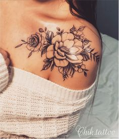 tattoos for women / tattoos for women . tattoos for moms with kids . tattoos for women small . tattoos for guys . tattoos with meaning . tattoos for women meaningful . tattoos on black women . tattoos for daughters Hip Tattoos Women, Tattoos For Women Flowers, Pretty Tattoos For Women, Thigh Tattoos For Girls, Flower Tattoo On Forearm, Flower Tattoos On Back, Cool Girl Tattoos, Girl Flower Tattoos, Vintage Flower Tattoo