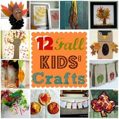 These craft ideas are so cute and kids will love making them! 12 unique kids crafts celebrating the Fall season.