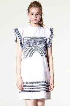 Ivy Embroidery Shift Dress Discover the latest fashion trends online at storets.com