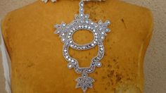 Cute applique with  rhinestones for dress top or by paviapavia, $5.95