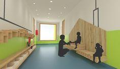Interior design per la scuola materna su Behance