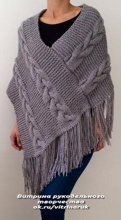 Easy Knitting, Loom Knitting, Knitting Patterns Free, Crochet Patterns, Knitting Ideas, Crochet Jacket, Crochet Poncho, Crochet Baby, Loom Scarf