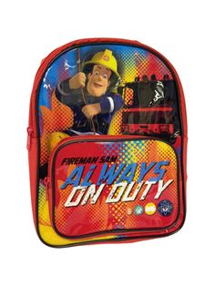 Fireman Sam 'On Duty' Backpack with Front Pocket - Kids Bedroom