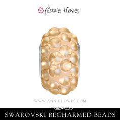 Swarovski BeCharmed bead in matte gold. Beautiful! Available at  www.anniehowes.com  swarovski  becharmed  diyjewelry  jewelrysupplies b0ac13e70a81