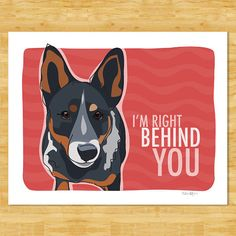 Australian Cattle Dog Blue Heeler Art Prints with por PopDoggie