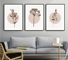♥ Black dot studio♥ Set of three botanical wall art prints. Beautiful wall gallery,perfect for a bedroom or living room. ★Shipping ★ Packages arrive to Europe in 3-10 business days. North America: 7-18 business days Australia, New Zealand and Oceania: 10-21 business days Asia Pacific: 10-21 business days Latin America and the Caribbean: 10-21 business days I pack my posters to very safe tubes, it will be delivered safe to your home. ★ Quality ★ I always print my art on premium sat Canvas Wall Art, Wall Art Prints, Diy Canvas, Minimal Art, Neutral Art, Diy Wand, Botanical Wall Art, Botanical Posters, Botanical Decor