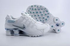 premium selection 00770 6f671 Nike Shox NZ Womens White Blue Nike Shox Nz, Nike Shox Shoes, Shoes Sneakers