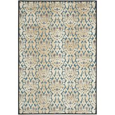Bungalow Rose™ Saint-Michel Anthracite/Petrol Area Rug