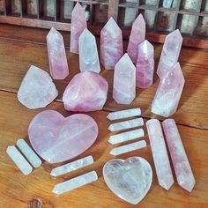 Lovely collection of Rose Quartz ✨ repost via @thecolourfuldot