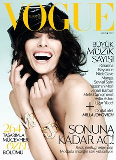 Milla Jovovich for Vogue Turkey May 2013