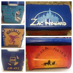 """""""Some Lambda Chi's are worth melting for"""" Fraternity Formal, Fraternity Coolers, Frat Coolers, Disney Crafts, Disney Fun, Cooler Connection, Summer Arts And Crafts, Disney Logo, Cooler Designs"""