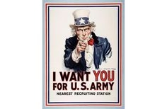 A vehemently isolationist nation needed enticement to join the European war effort. These advertisements were part of the campaign to do just that