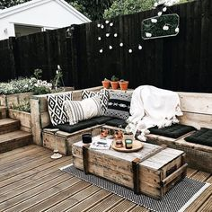 Provide Your House a Transformation with New House Design – Outdoor Patio Decor Outdoor Cushions, Outdoor Lounge, Outdoor Rooms, Outdoor Living, Outdoor Decor, Outdoor Patios, Outdoor Kitchens, Terrazas Chill Out, Home Furniture