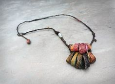 Bramble' sculptural necklace by greybirdstudio on Etsy