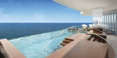 Canyon Ranch SpaClub Infinity-Edge Plunge Pool Rendering ~ Regent Seven Seas Cruises Reveals New Seven Seas Explorer Spa Cruise Vacation, Vacation Spots, Cruise Travel, Spas, Celebrity Infinity, Morocco Itinerary, Sea Explorer, Best Cruise Ships, Destinations