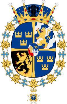 Coat of Arms for HRH Victoria Ingrid Alice Desiree, Crown Princess of Sweden, Duchess of Vastergotland