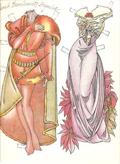 Very beautiful paper doll by Charles Ventura with art nouveau  inspiration from Mucha.  I did...